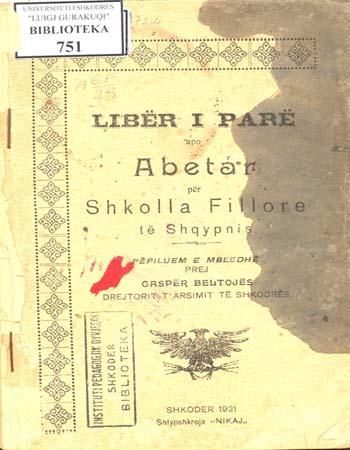 Abetare për shkollat fillore të Shqipërisë. Përpiluar e mbledhur nga Gaspër Beltoja