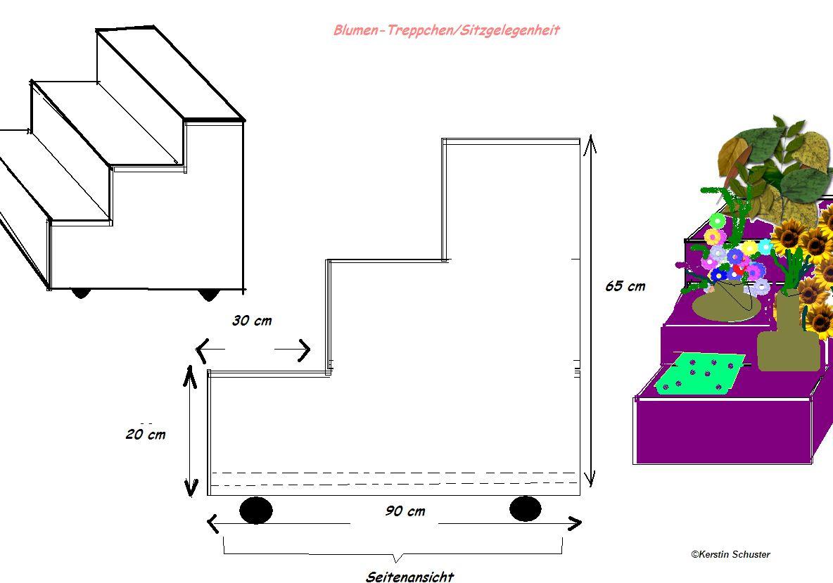 blumentreppe selber bauen swalif. Black Bedroom Furniture Sets. Home Design Ideas