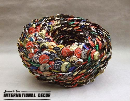 recycled art, original crafts, how to make recycled art from old materials