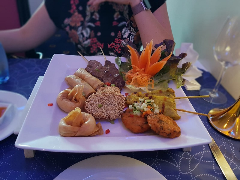 Sharing platter at Royal Thai Aberdeen