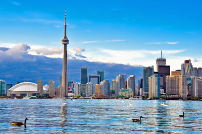 Toronto Skyline With CN Tower Canada