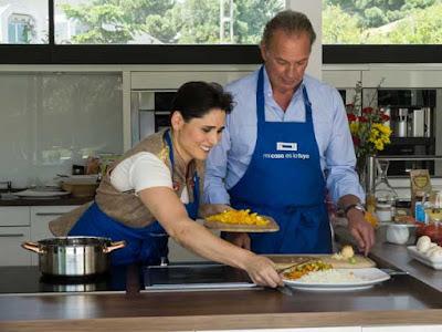 Rosa Lopez enseña los secretos de la cocina vegana a Bertin Osborne