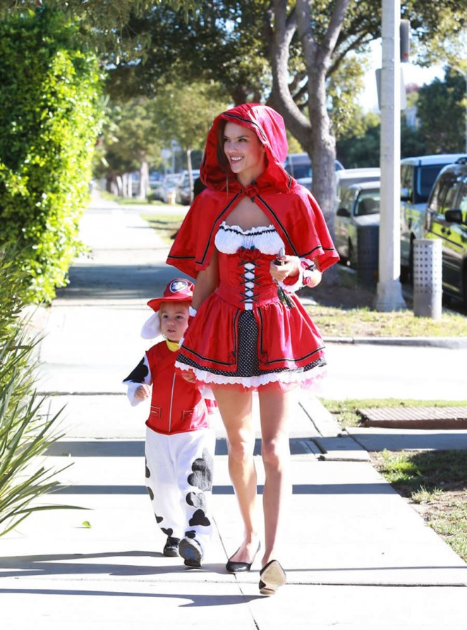 Alessandra Ambrosio turns sexy Red Riding Hood for Halloween