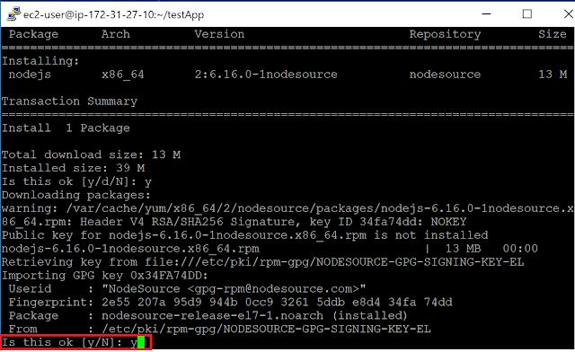 Railsサーバー起動のためにNode.jsインストール実行3
