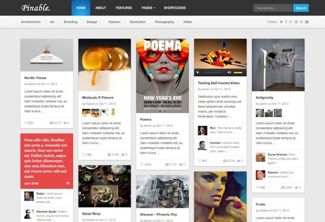 Pinable Premium WordPress Theme