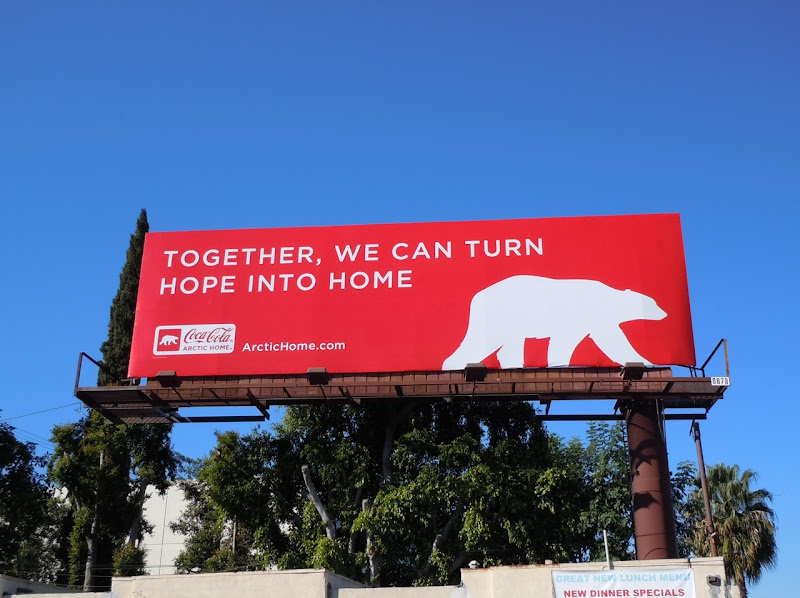 Coke Arctic home billboard