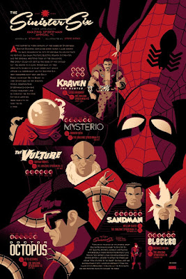 "Spider-Man ""Sinister Six"" Marvel Variant Screen Print by Tom Whalen x Mondo"