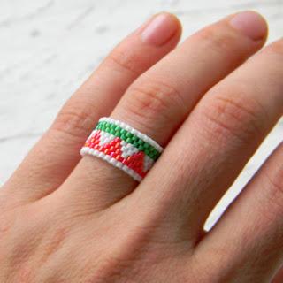 купить кольцо из бисера анна белоус украшения хиппи бохо этника