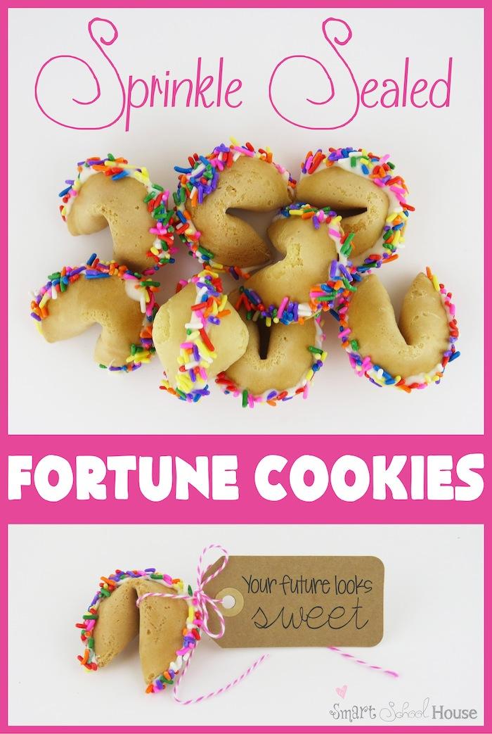 Sprinkle Sealed Fortune Cookie #DIY #Cookie #Sprinkles #Favor