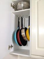 organizzare gli armadietti cucina