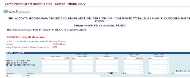 Codice tributo 2002