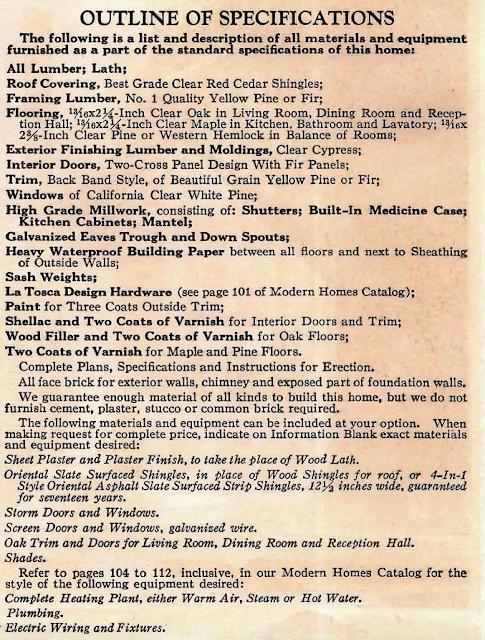 1929 catalog listing Sears Elmhurst specs listing