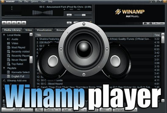 تحميل برنامج Winamp 5.8.3660 مشغل الصوتيات الاول عالميا اخر اصدار