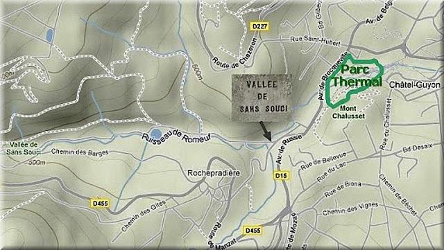 Plan accès vallée de sans souci