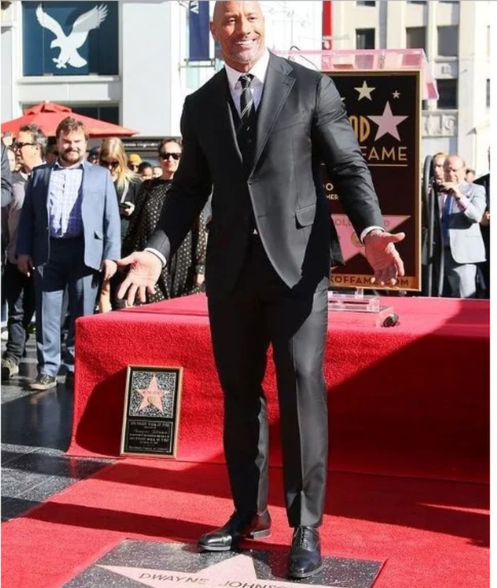 Dwayne 'The Rock' Johnson Receives His Star On Hollywood Walk Of Fame