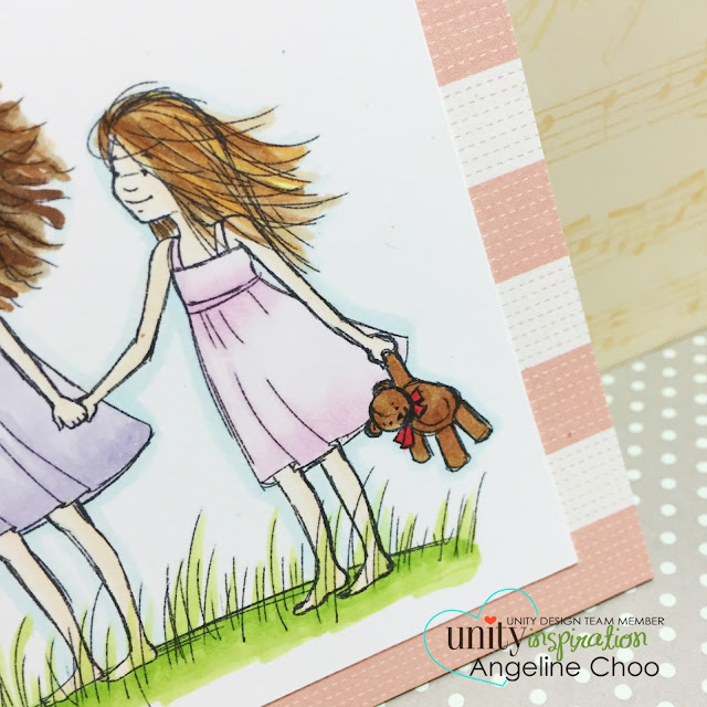 ScrappyScrappy: Unity Stamp Brown Thursday hop - True friends are rare #scrappyscrappy #unitystampco #stamp #copic #christmas #friends #card #friendship #phyllisharris