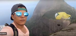 Homem que saltava de speed fly cai em pedra no Rio de Janeiro; veja vídeo