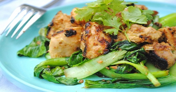 Coconut Chicken With Sauted Bok Choy Recipe