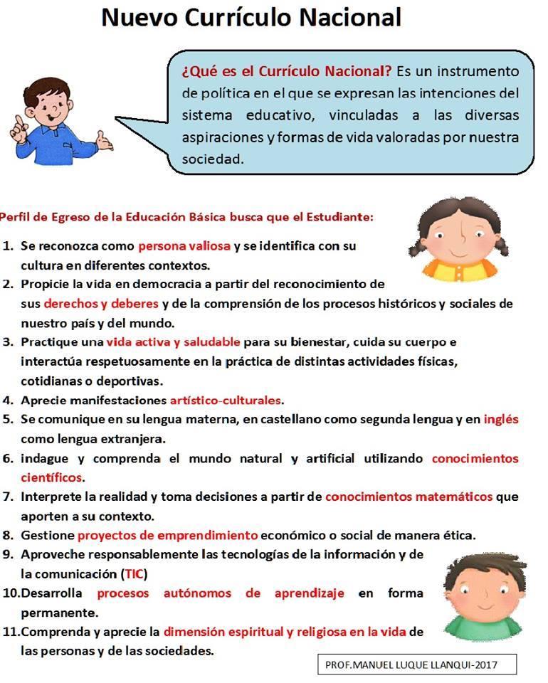 Ie 0034 vitarte for Curriculo basico nacional