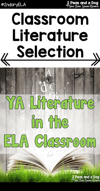 It is important that our classrooms and curriculum engage students with both classic and current literature. By incorporating more young adult literature in your classroom through book clubs, lit circles, classroom library options and curriculum students can maintain or gain a love of reading from the 2 Peas and a Dog blog.