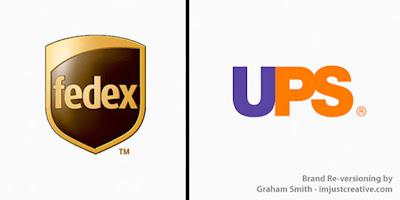 bromas de marcas famosas fedex y ups