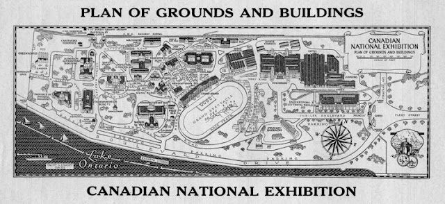 Plan of Grounds and Buildings - Canadian National Exhibition, 1928