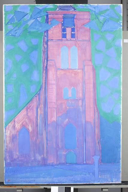 Piet Mondrian | Igreja em Oostkapelle (1908 – 1909) | Crédito: Gemeentemuseum, Den Haag, Holanda