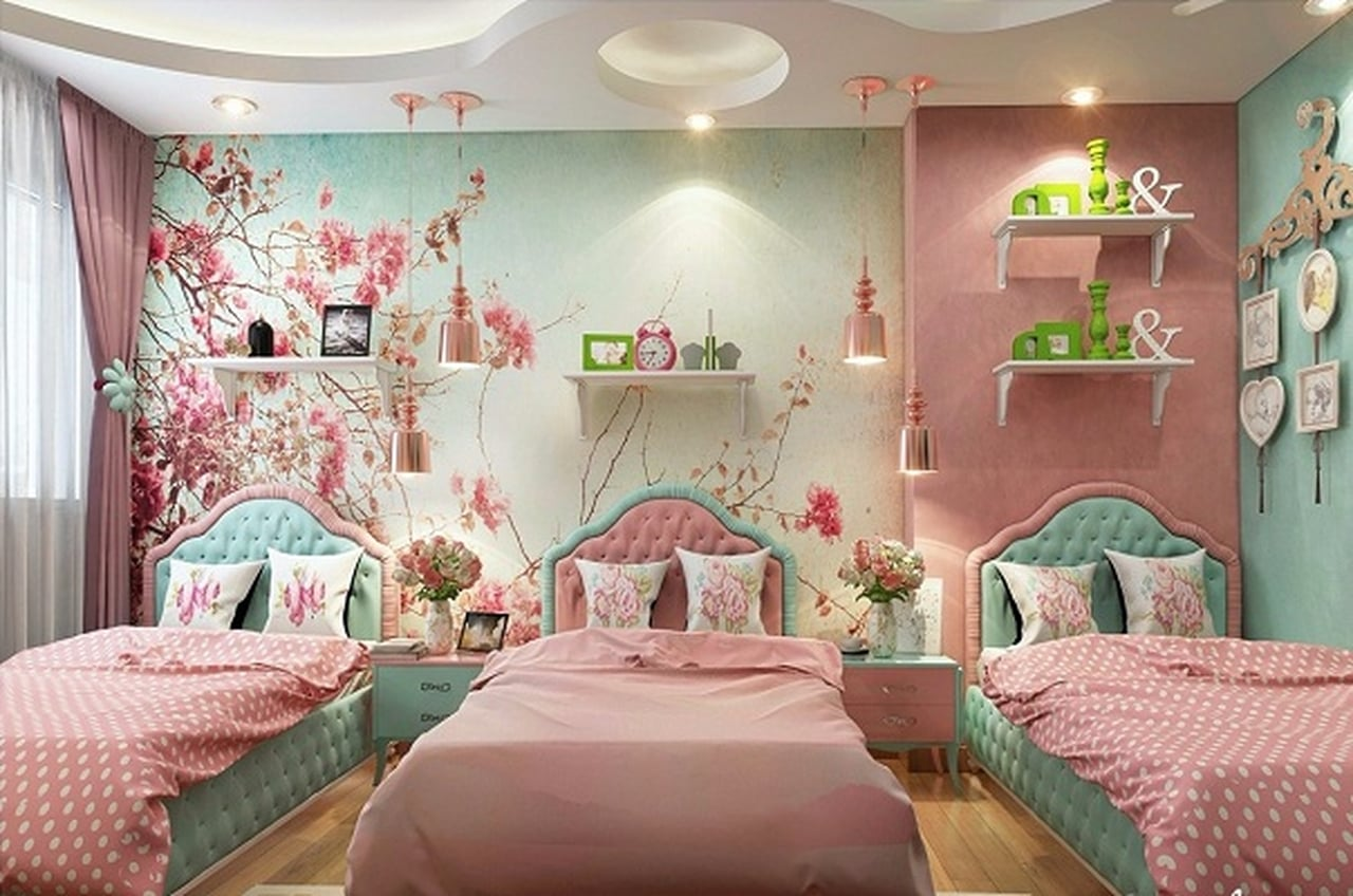 غرف نوم اطفال 2019 احدث غرفة مودن حديثة للاطفال