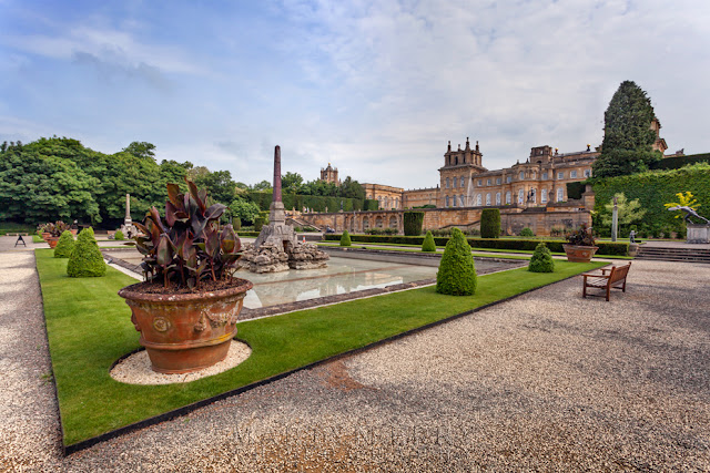 Beautiful Italian Garden in the Blenheim Palace gardens in Woodstock by Martyn Ferry Photography