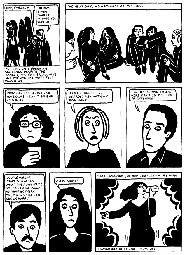 Read Chapter 16 - The Socks, page 157, from Marjane Satrapi's Persepolis 2 - The Story of a Return