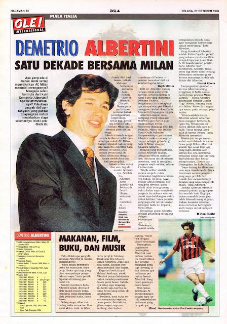 DEMETRIO ALBERTINI DECADE WITH AC MILAN