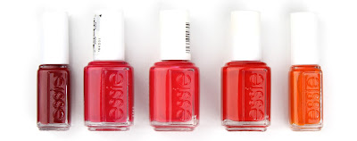 essie nail polish varnish jump in my jumpsuit rosebowl e-nuff is e-nuff snap happy roarrrange