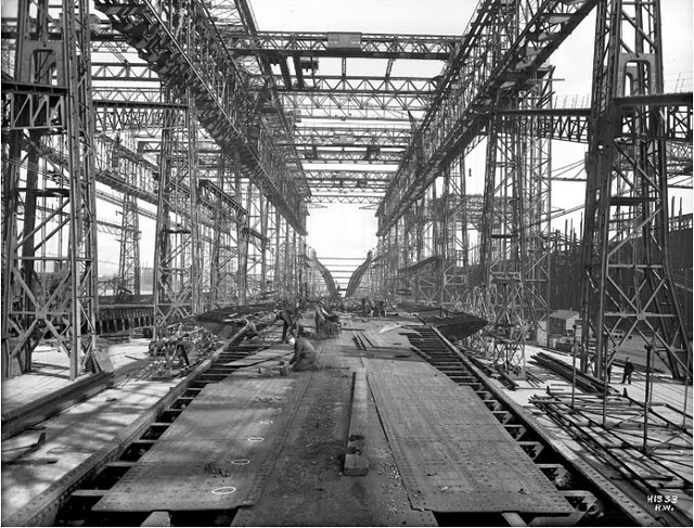 El retronauta la construcci n del titanic - Construccion del titanic ...