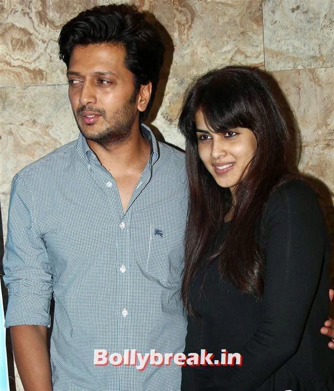 Genelia D Souza and Ritesh Deshmukh, Genelia D Souza, Salman Khan at Special Screening of Film Yellow