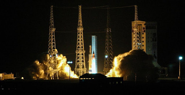 Launch of Payam satellite. Credit: Mizan news agency