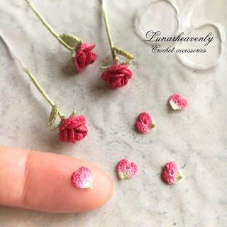 wzory różyczek szydełkowych