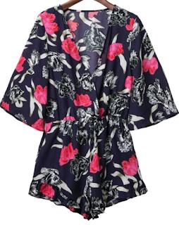 Kimono combishort, Zaful