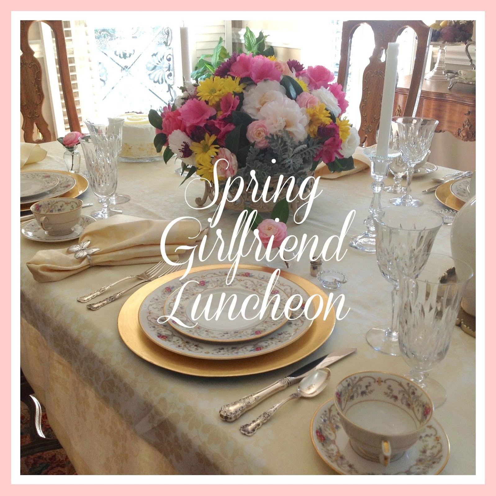 Spring girlfriend luncheon living with thanksgiving bright sunshine pretty blooming flowers birds singing and moderate temperatures make us happy it is a perfect day for a girlfriend luncheon mightylinksfo