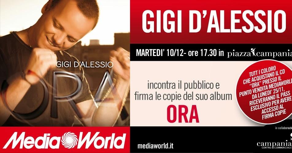 Solo Caserta eventi e sagre: Gigi D\'Alessio al Centro Commerciale ...
