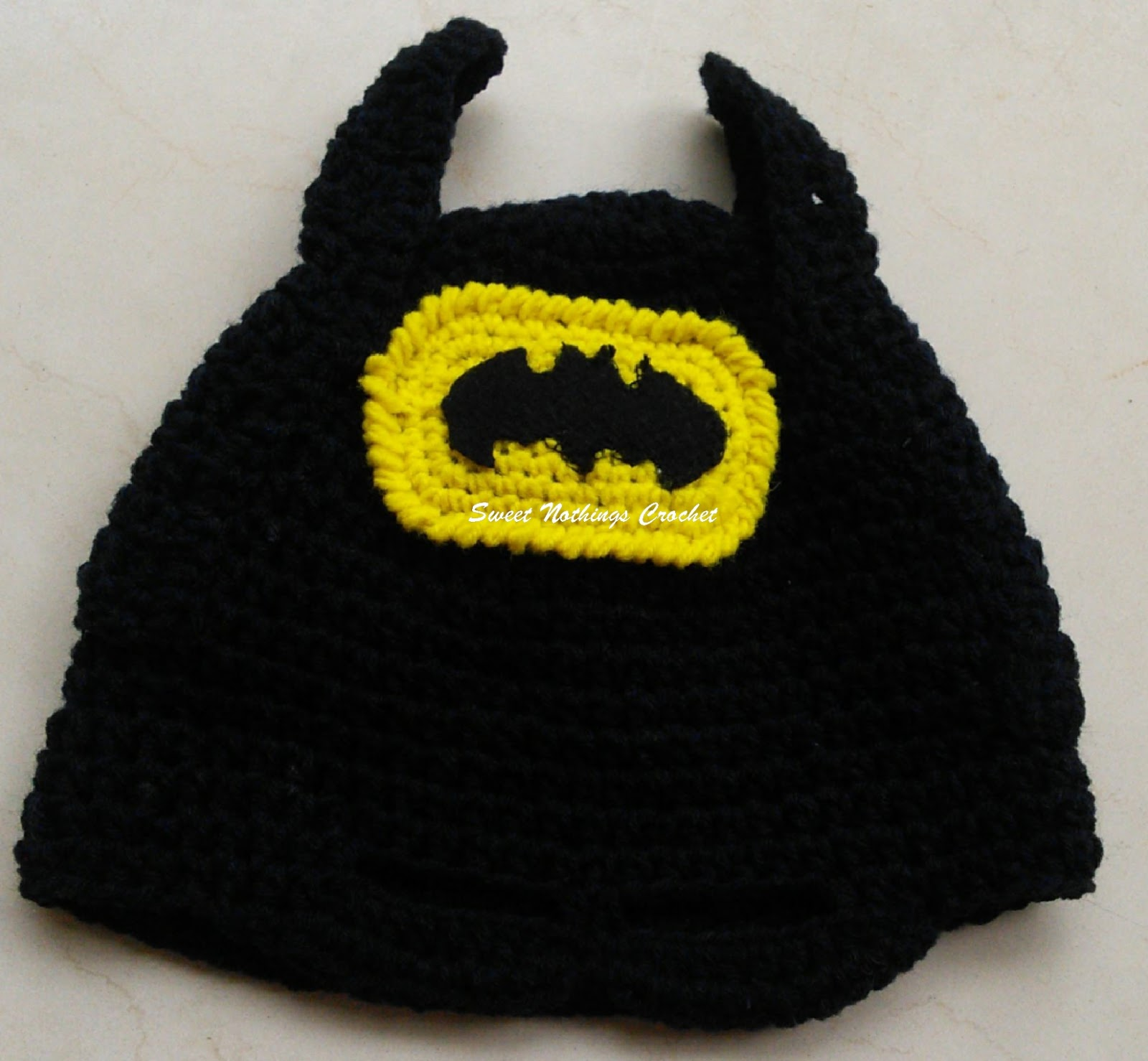 Sweet Nothings Crochet Batman Cap