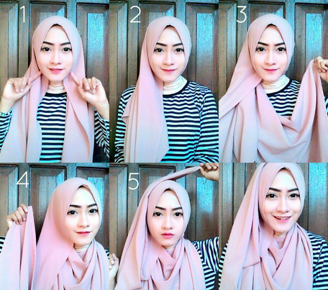 Tutorial Hijab Pashmina Sederhana Dan Mudah