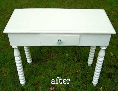 vanity table after