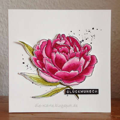 """Mondo Peony"" Julie Ebersole, ""German Label Love"" Altenew,  ""Gorgeous Grunge ""Stampin`up"