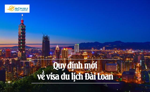 Những đổi mới về quy định miễn visa du lịch Đài Loan