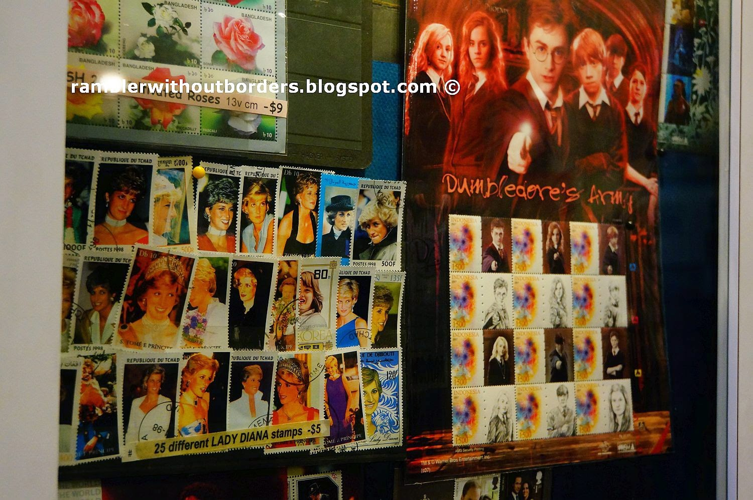 Stamps of the British Royal Family and Harry Potter, Singapore Philatelic Museum