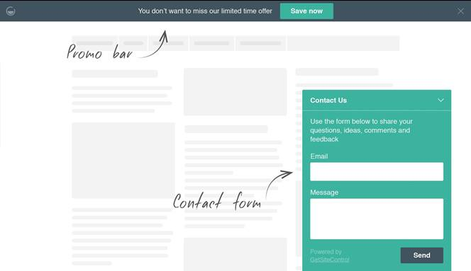 get site control widget kaise add kare