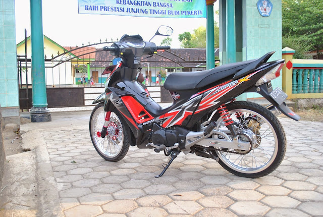 Modifikasi Motor Supra X 125 Standar
