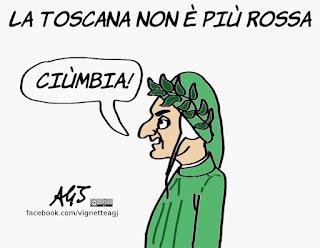 toscana, pd, dante, amministrative 2018, ballottaggi, politica, vignetta, satira