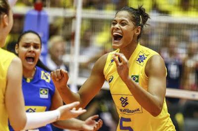 Adenízia bloqueio Grand Prix 2017 seleção brasileira vôlei