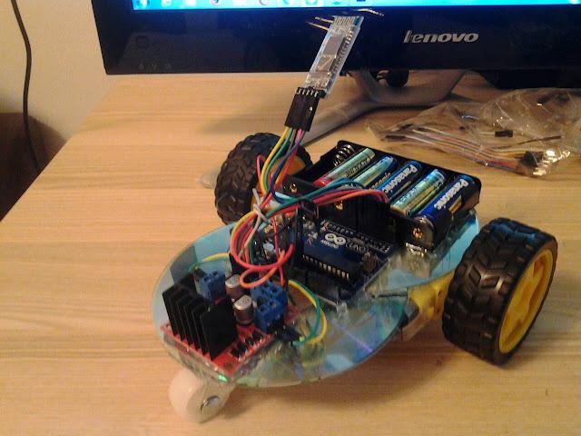 ประดิษฐ์รถบังคับจากแผ่นซีดี ควบคุมด้วยแอพแอนดรอยด์